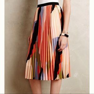 ANTHROPOLOGIE HD In Paris Pleated Colorblock Skirt